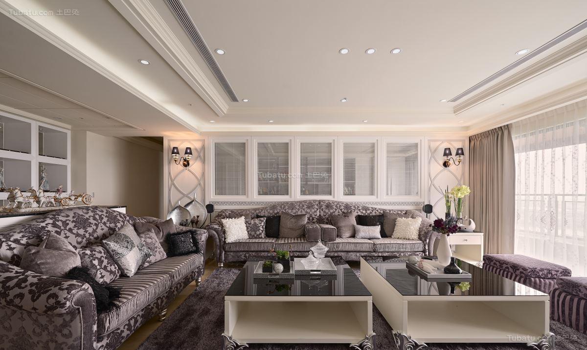 新古典优雅客厅装修效果图