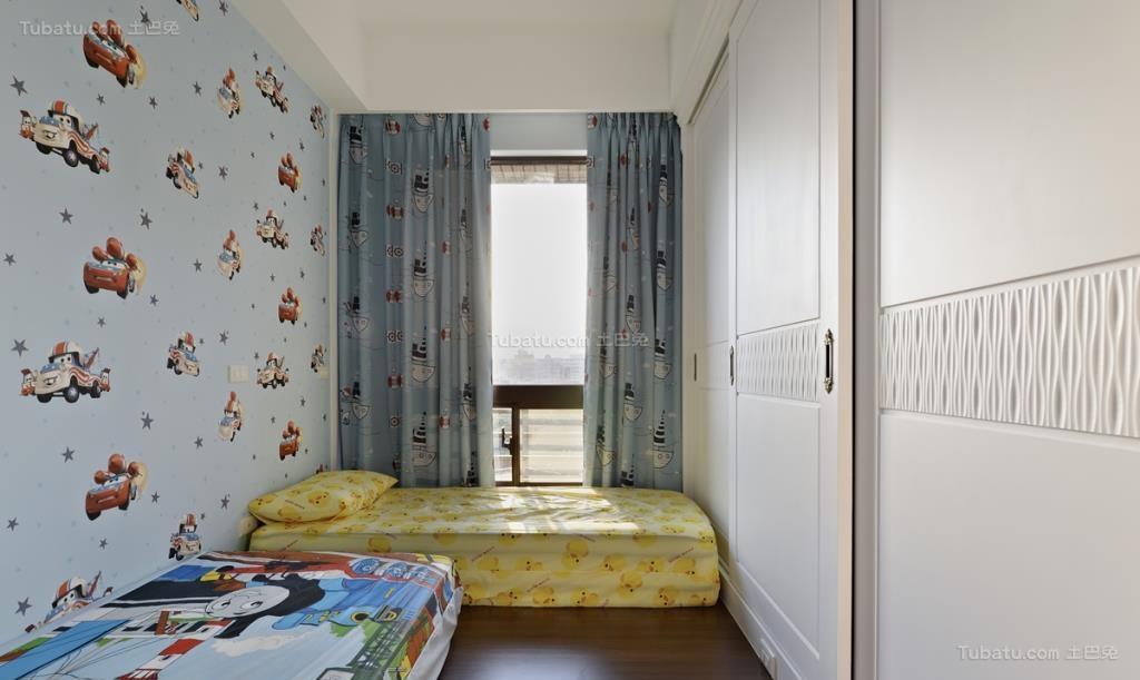 温馨优雅田园风儿童房装修效果图