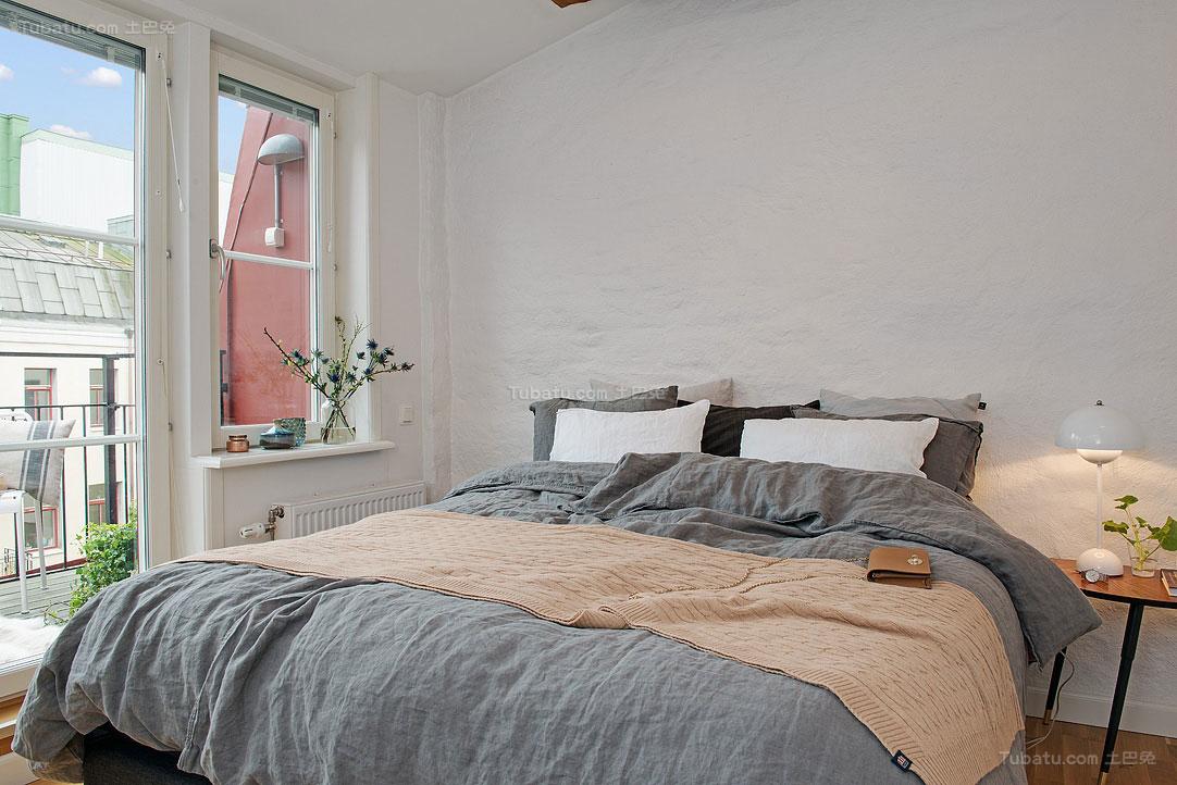 北欧风情简单清美卧室图