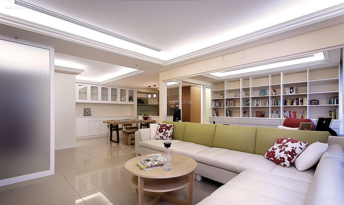清新优雅北欧风格三居室装修效果图