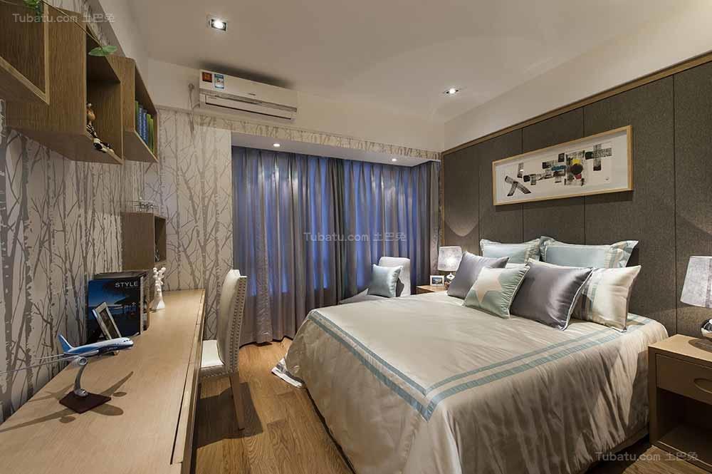 东方雅韵中式风格卧室装修效果图