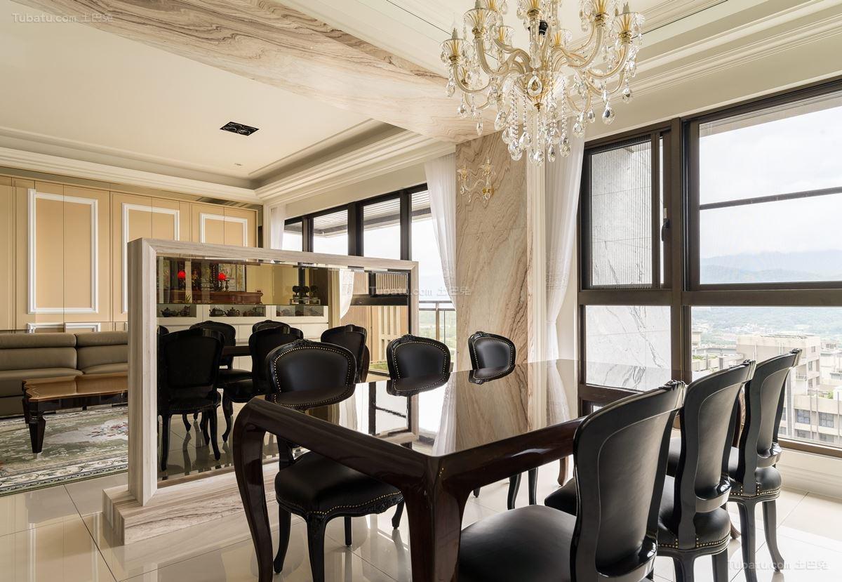 古朴优雅的新古典风格餐厅装修效果图