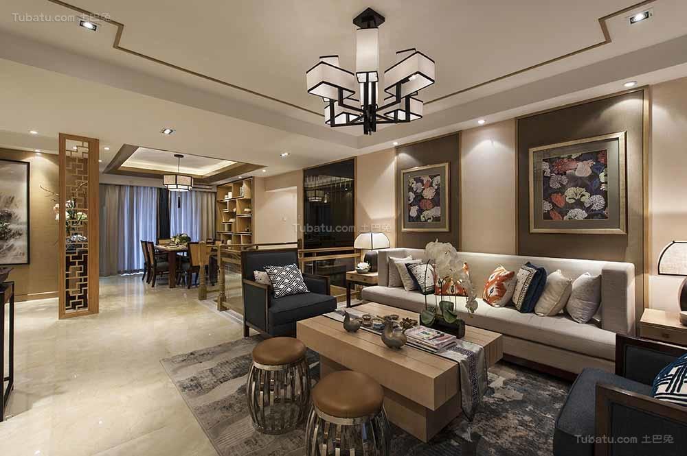 东方雅韵中式风格客厅装修效果图