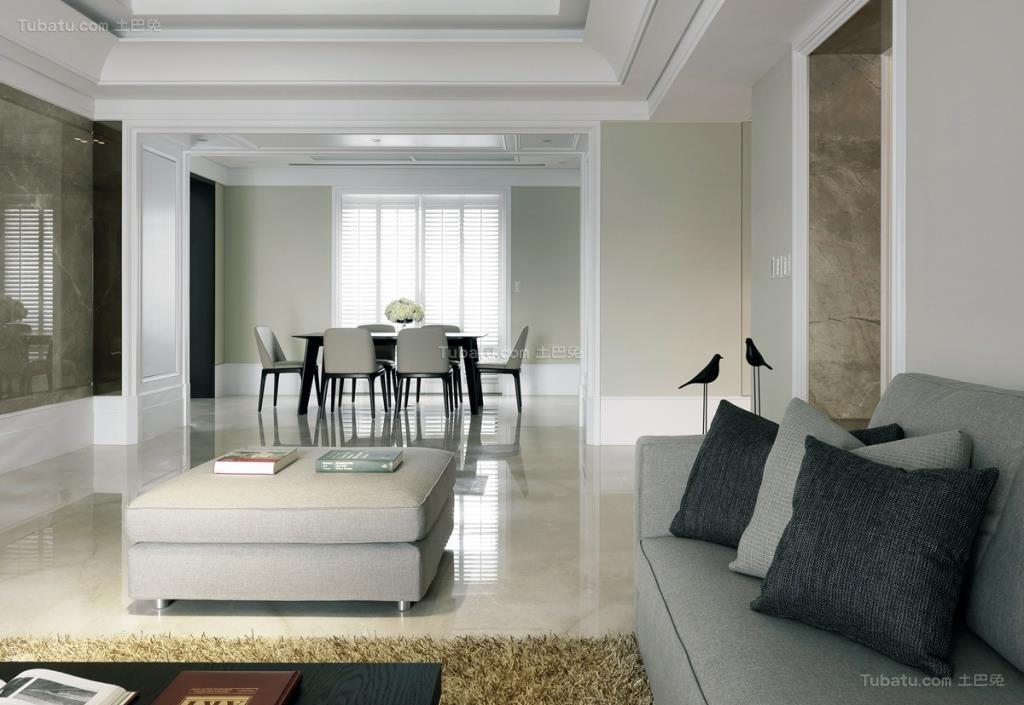 现代化大方时尚三居室装修效果图