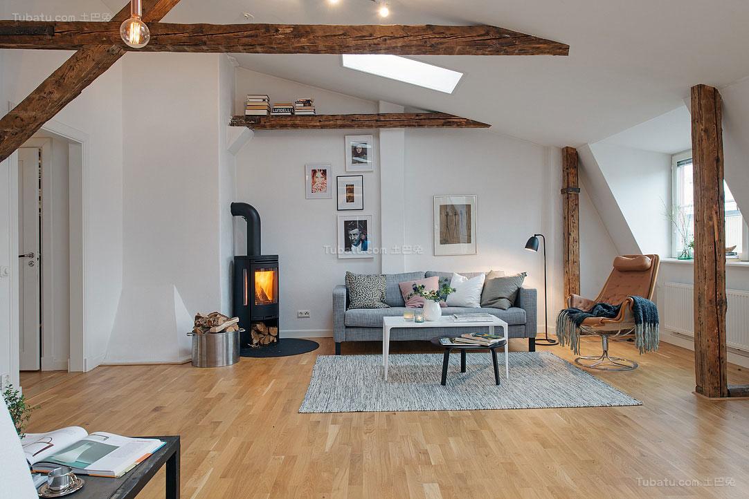 北欧风情简单清美一居室图