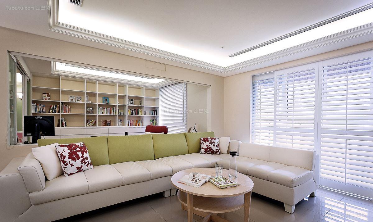 清新优雅北欧风格客厅装修效果图