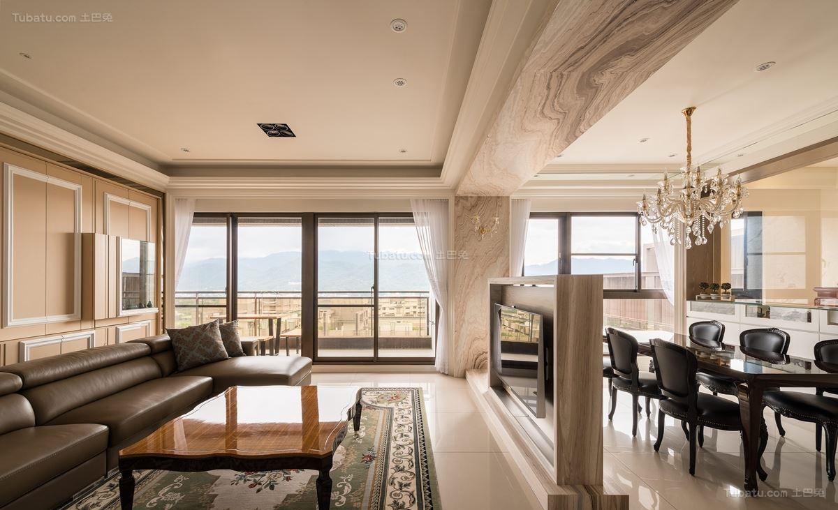 古朴优雅的新古典风格四居室装修效果图