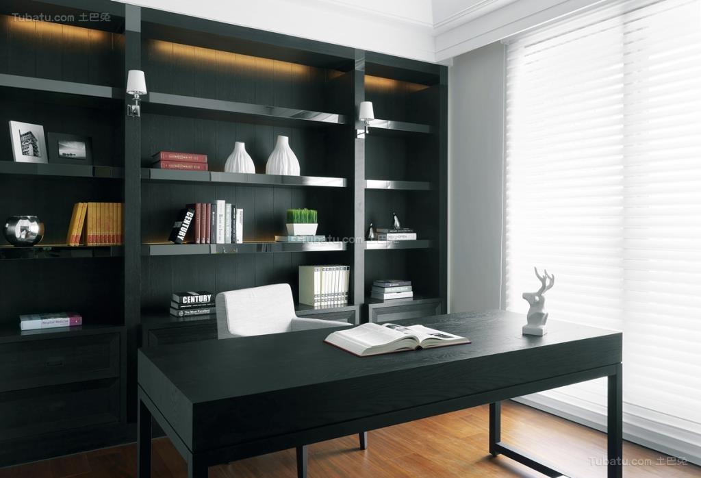 现代化大方时尚书房装修效果图