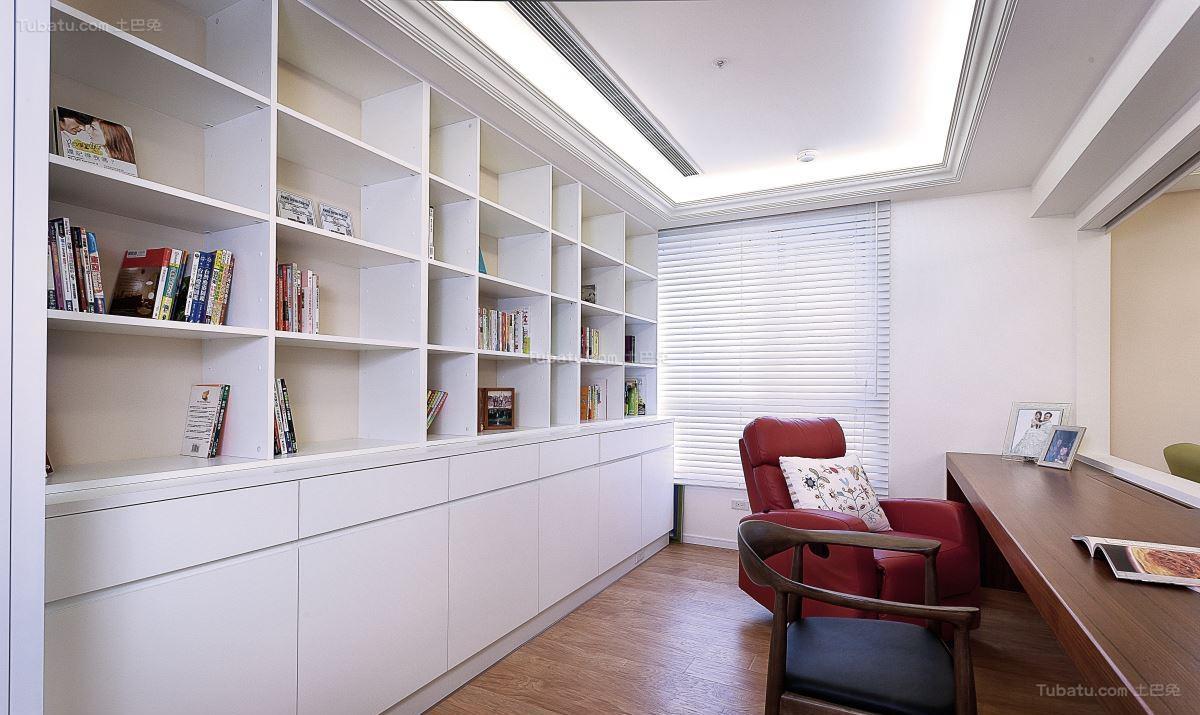 清新优雅北欧风格书房装修效果图