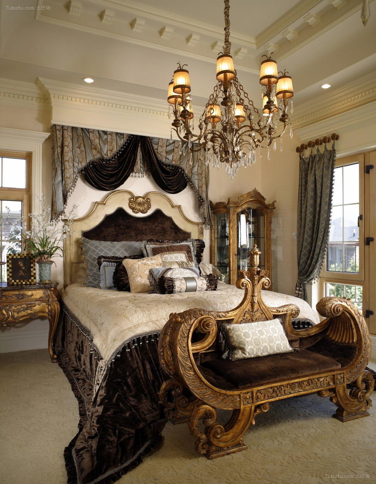 奢华精美欧式卧室装修效果图