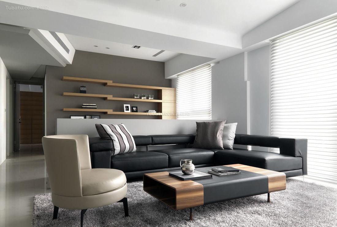 现代化舒适三居室装修效果图
