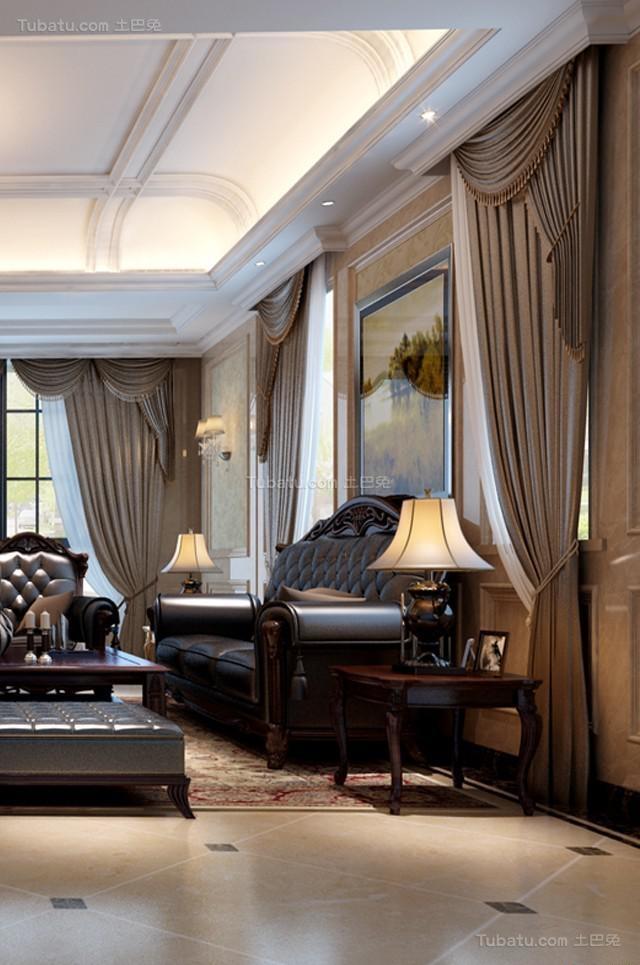 气质奢华家居欧式风格窗帘装修效果图