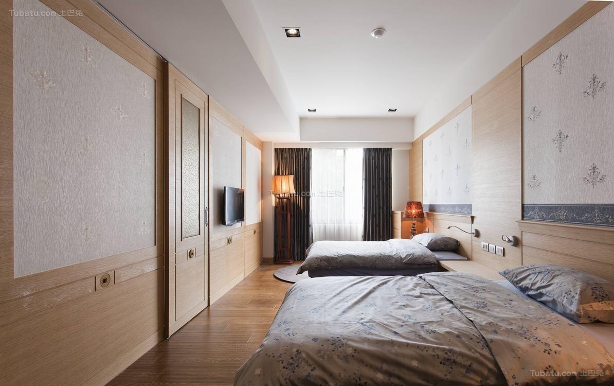 简洁舒适东南亚风格卧室装修效果图