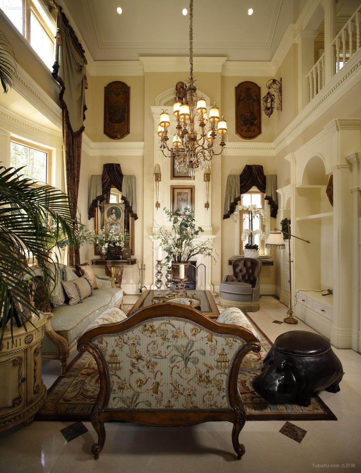 奢华精美欧式客厅装修效果图