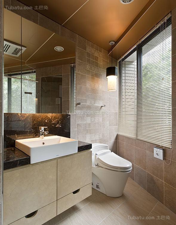 简洁舒适东南亚风格卫生间装修效果图