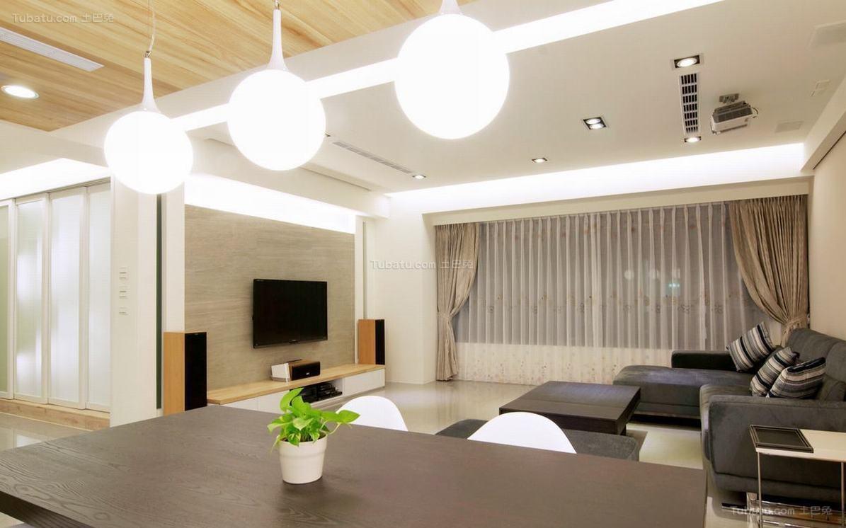 现代化时尚二居室装修效果图