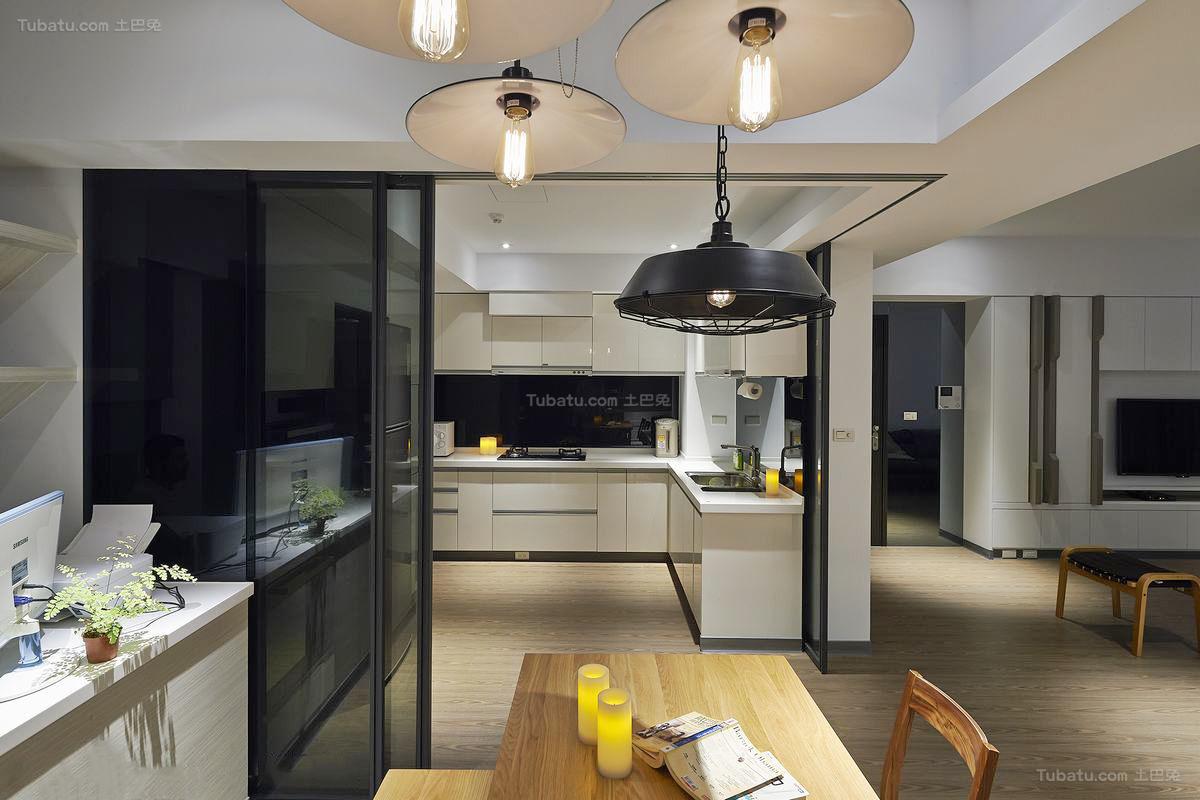 温暖时尚现代化二居室装修效果图