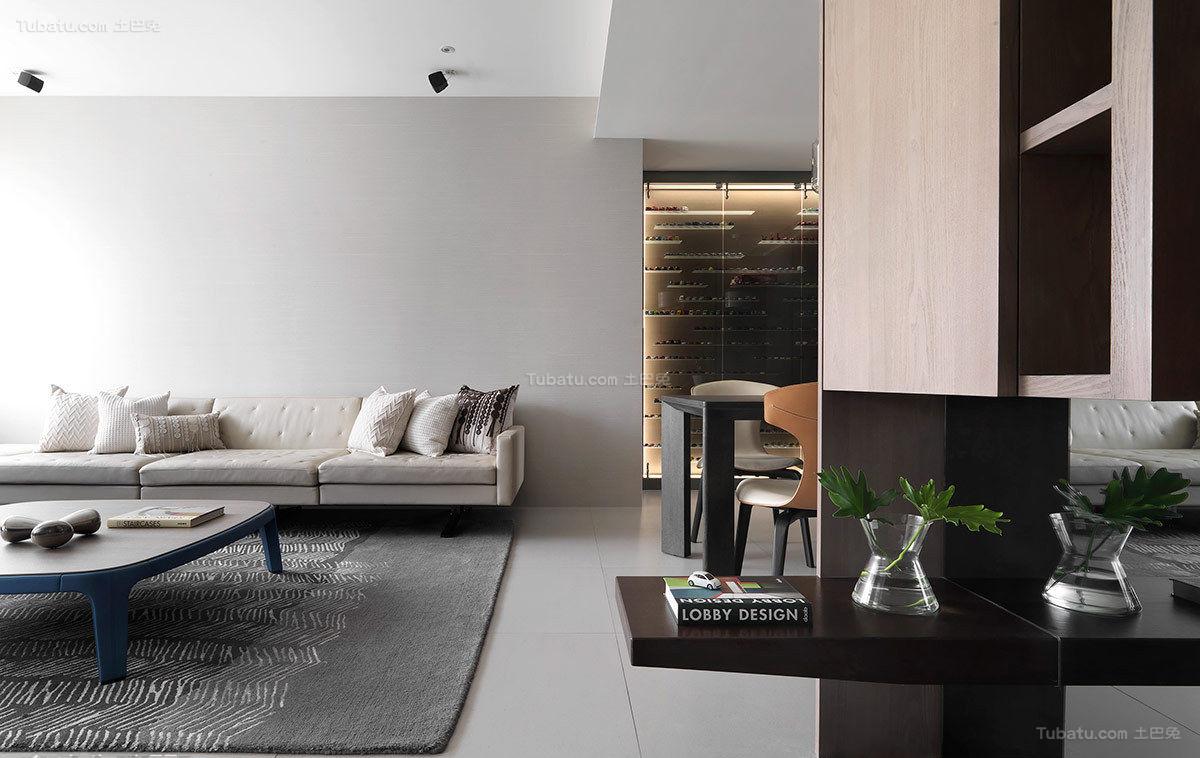静谧优雅二居室装修效果图