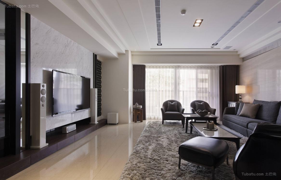 质感简洁三居室装修效果图