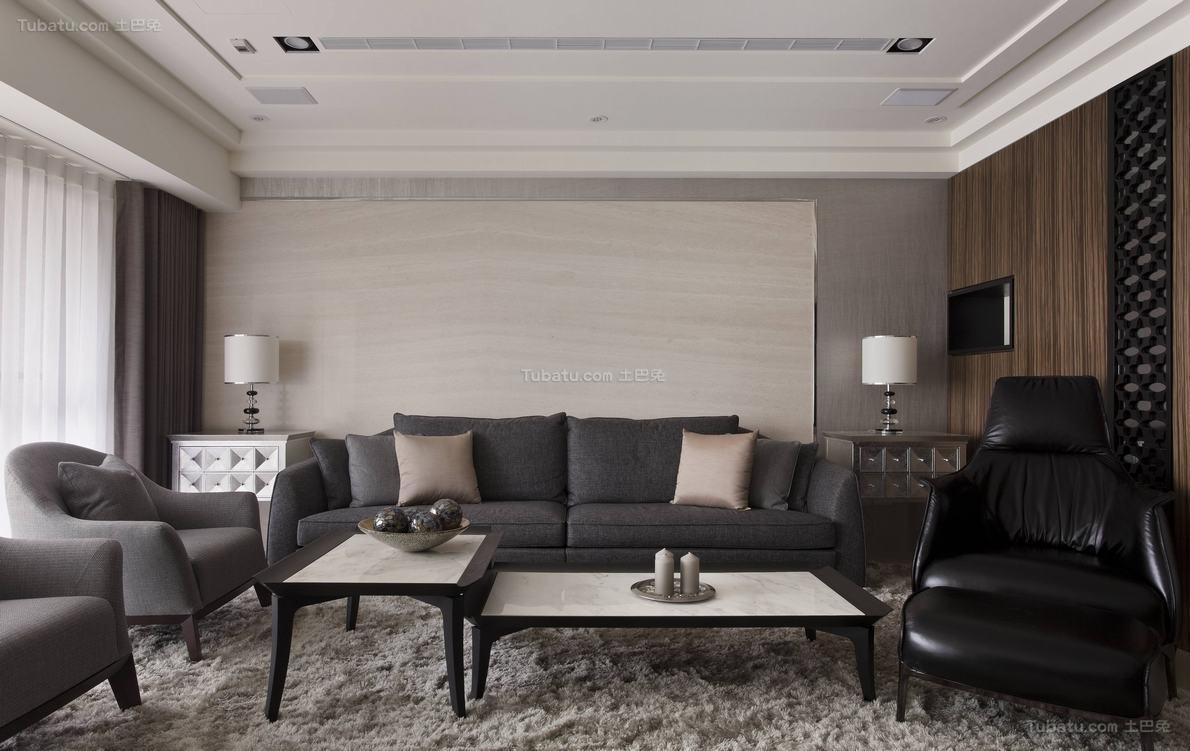 质感简洁客厅装修效果图