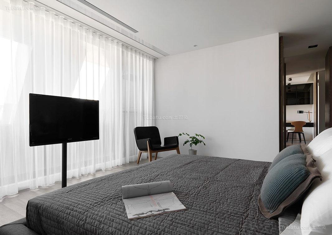 静谧优雅窗帘装修效果图