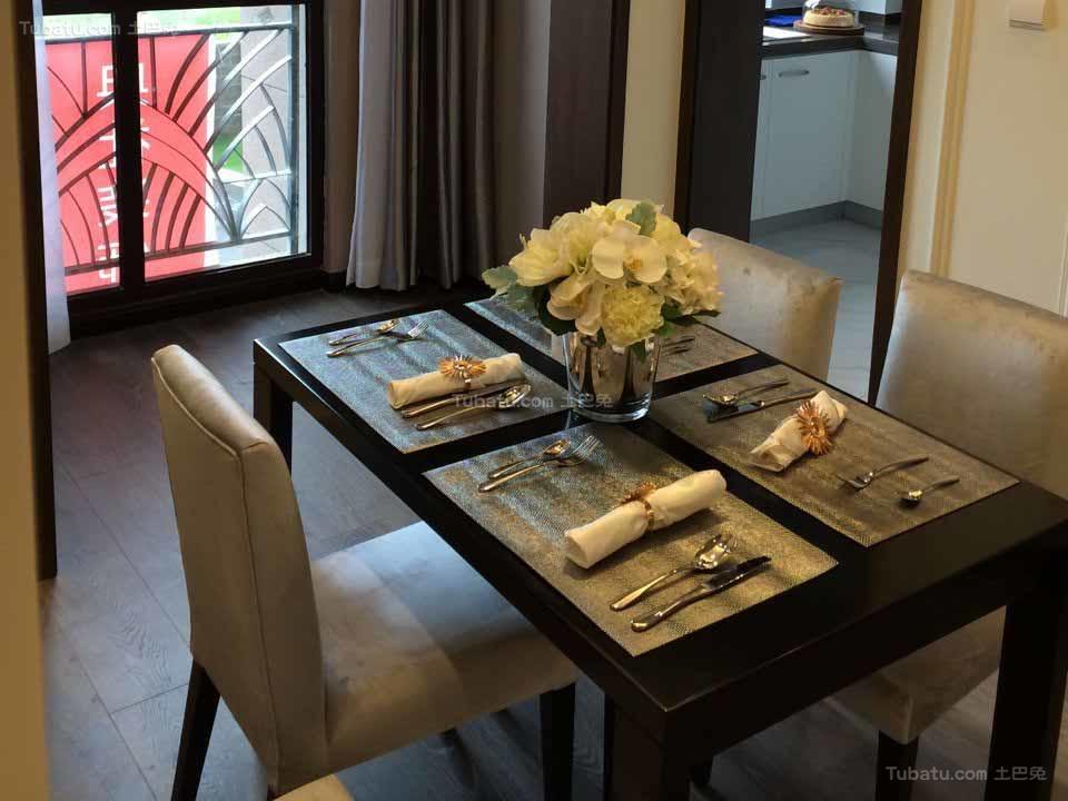 沉稳静谧现代风格餐厅设计效果图