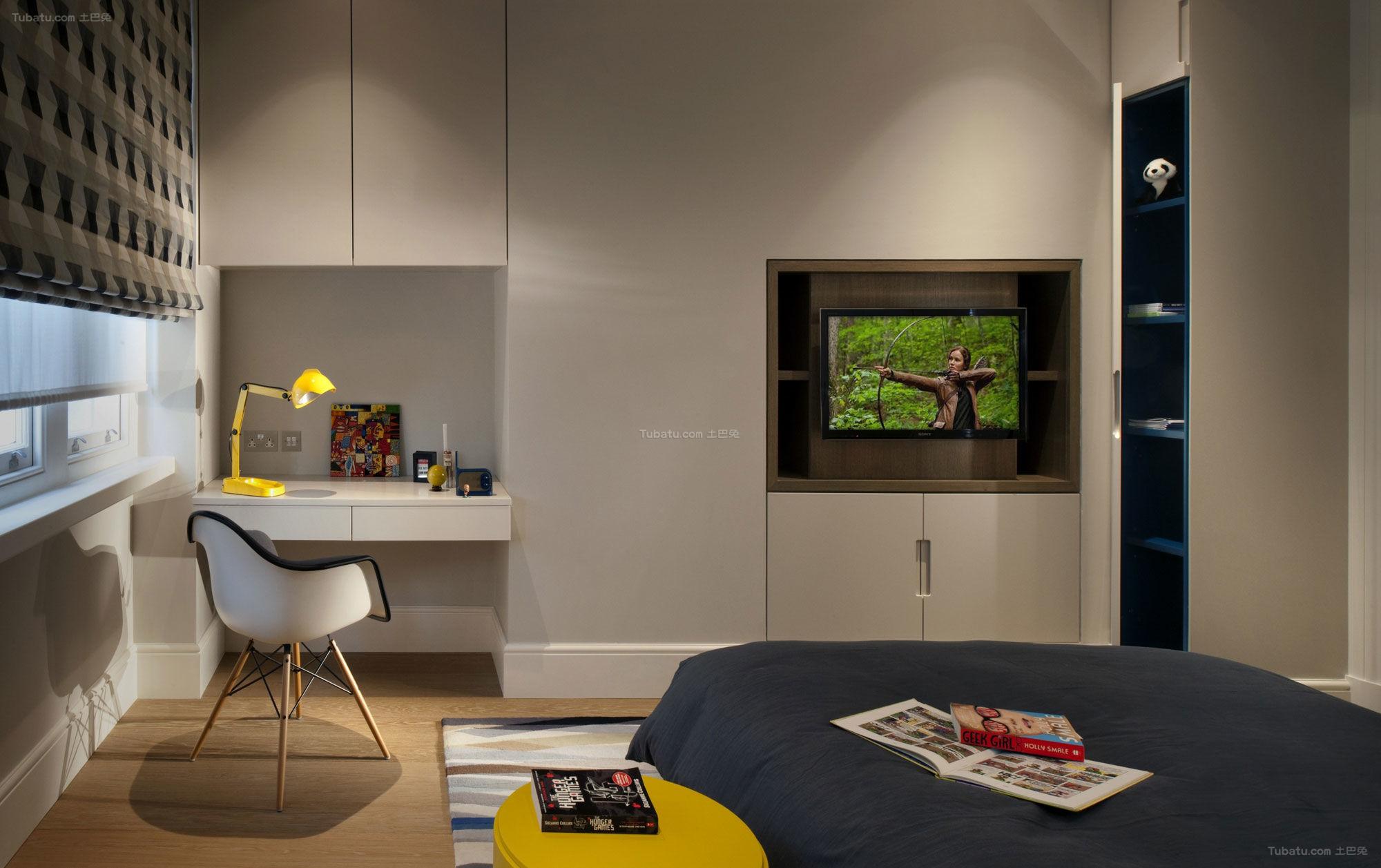 混搭风现代低调小卧室效果图