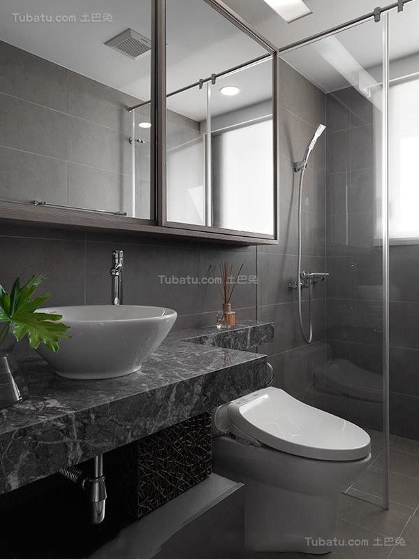 静谧优雅卫生间装修效果图