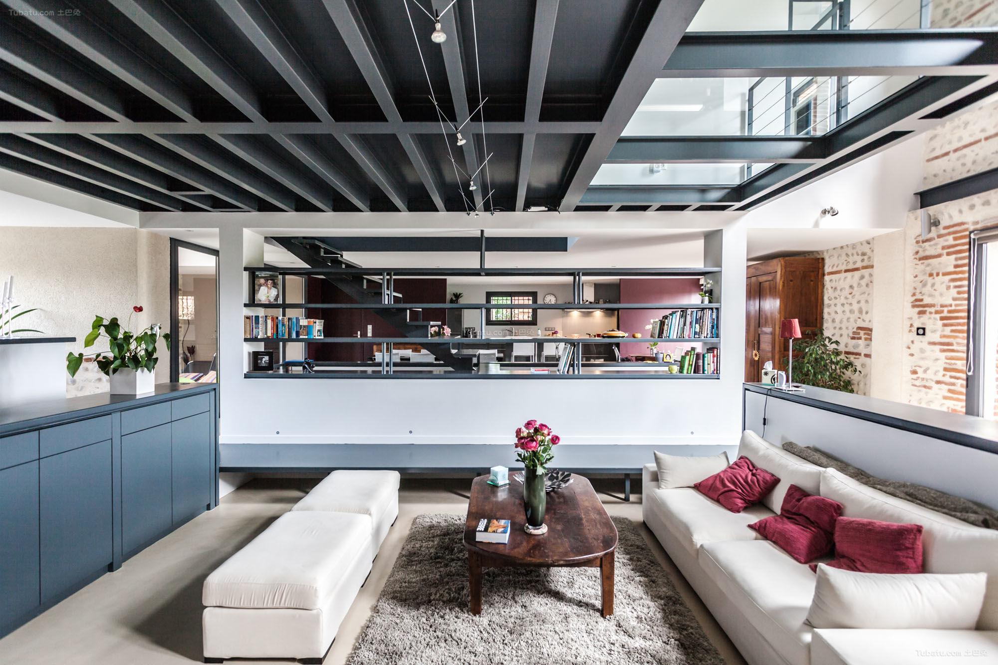 loft风格复古低调二居室图