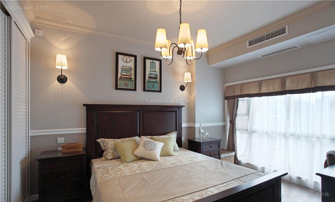 复古创意中式风格卧室装修效果图