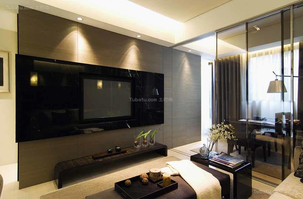 时髦家居现代化电视背景墙装修效果图