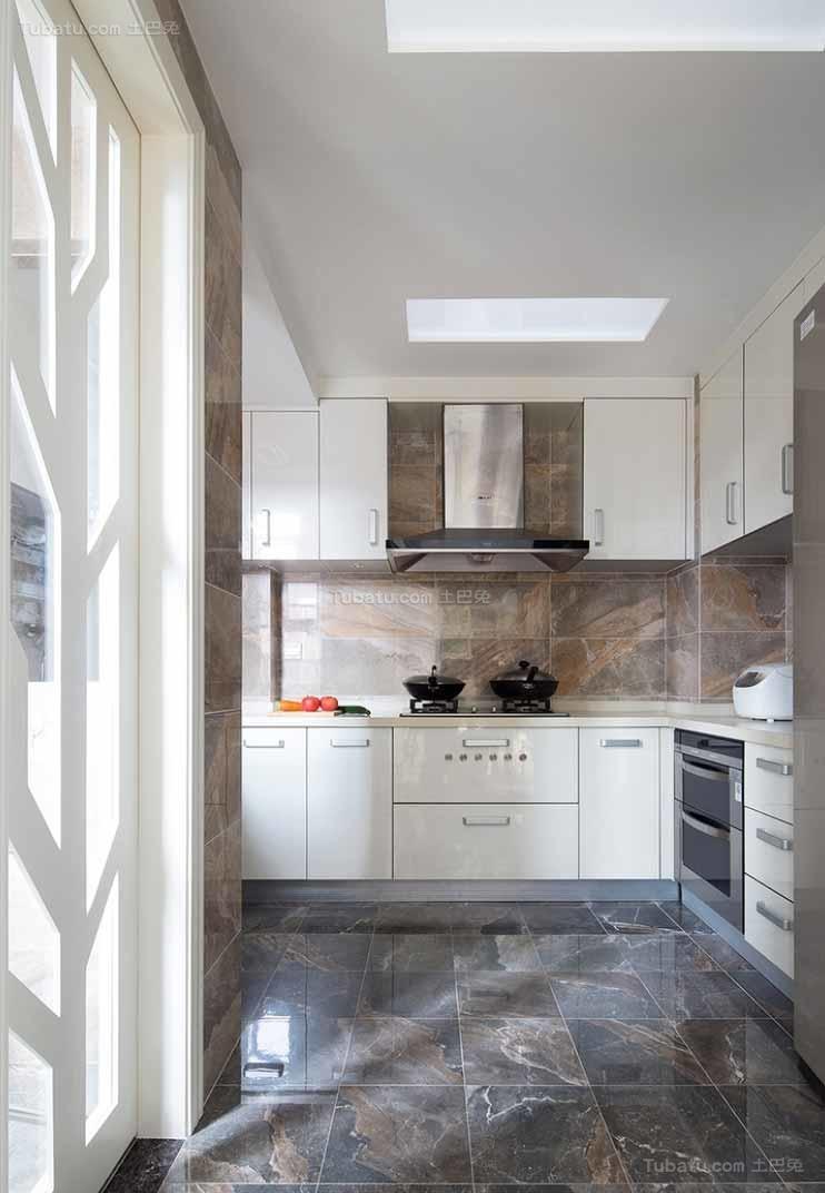 淡雅时尚简约风格厨房设计效果图