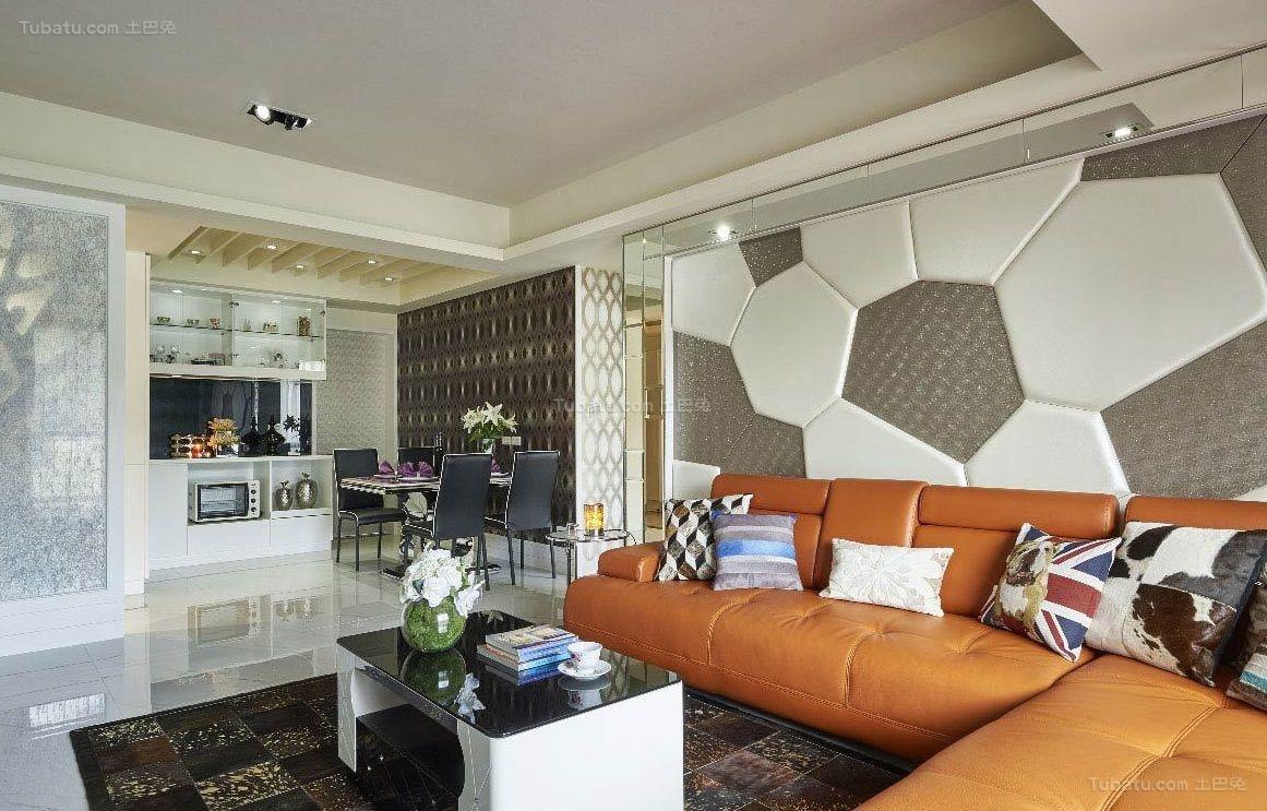 都市潮流现代风格客厅设计效果图