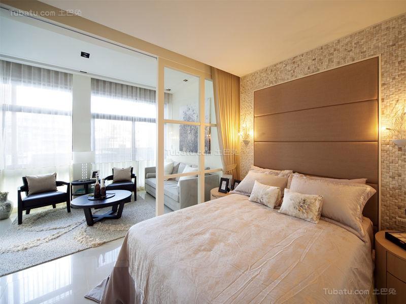 优雅温馨现代化卧室设计效果图