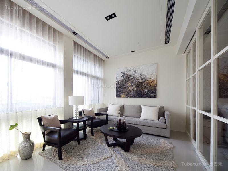 优雅温馨现代化客厅设计效果图