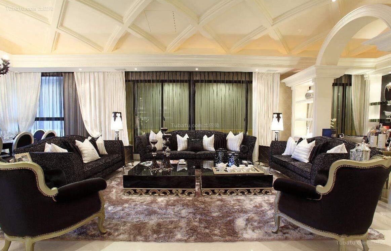 巴洛克风格客厅设计效果图