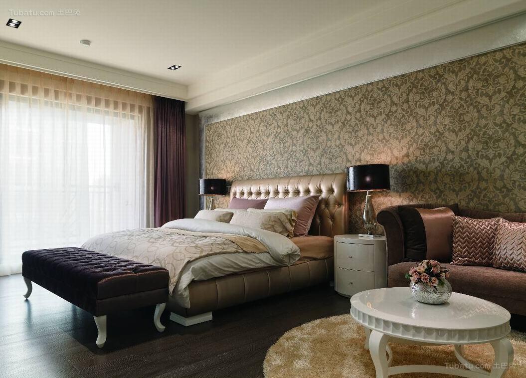 新古典风奢靡美观卧室设计效果图