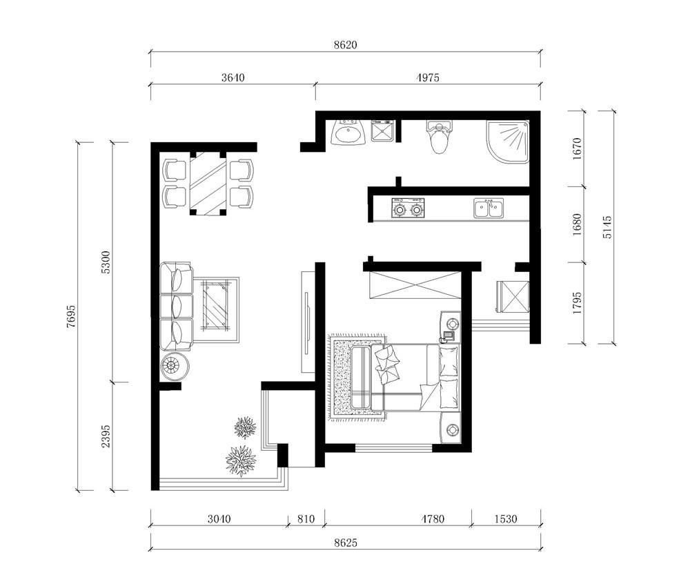 简单二层别墅平面布置图