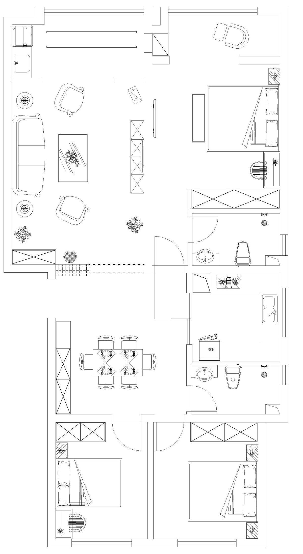 雅致二层独栋别墅户型图
