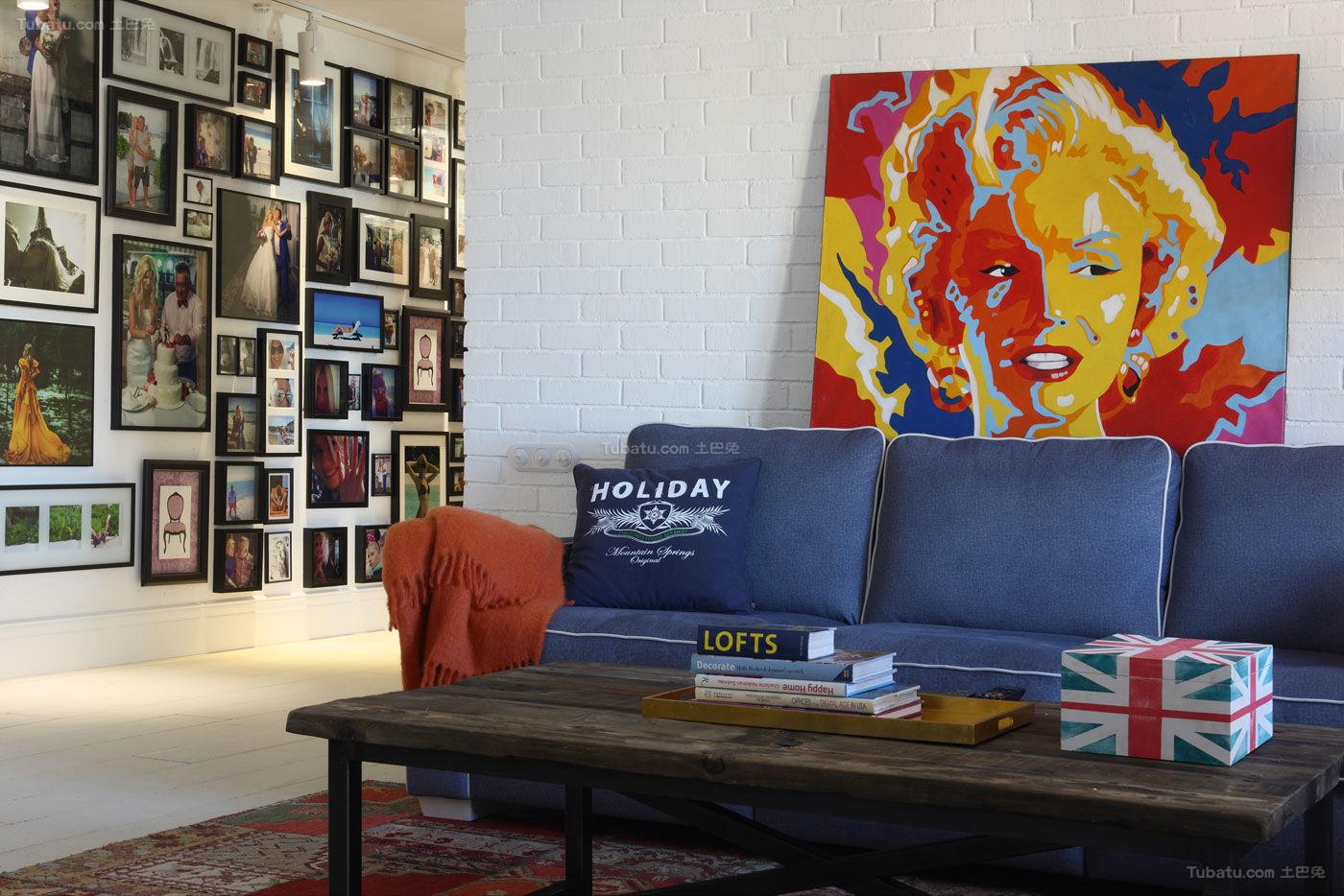 混搭复古工业感创意一居室图
