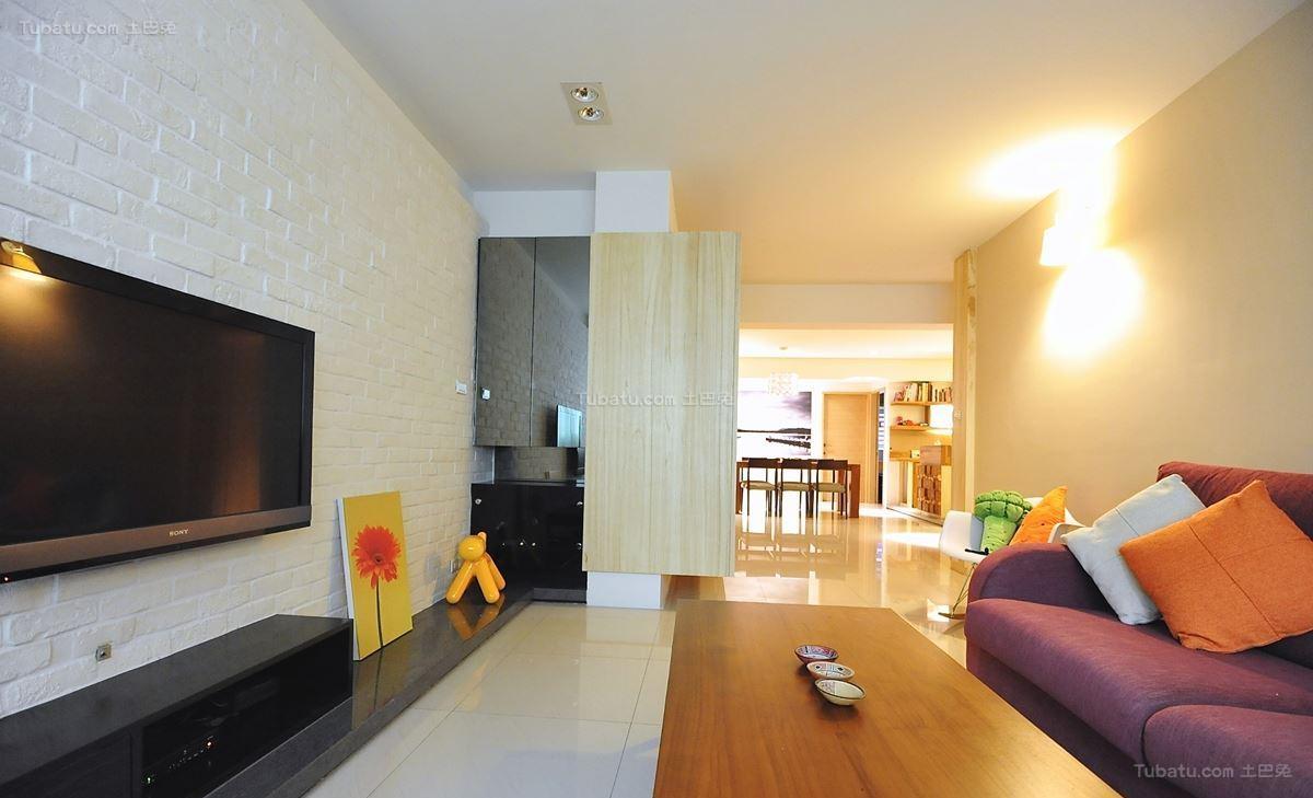 现代东南亚风格三居室设计图片
