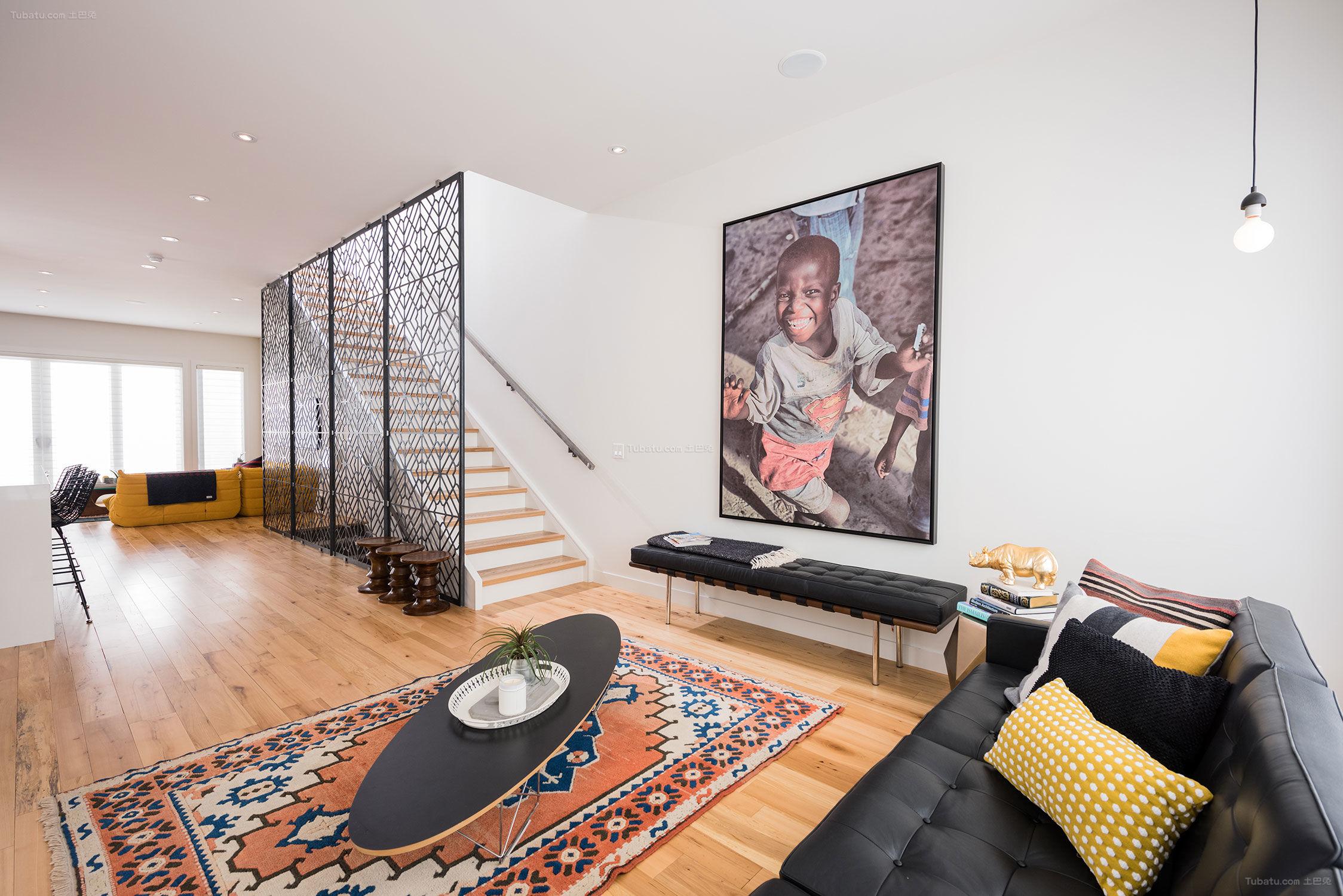 现代简约风混搭感一居室欣赏图
