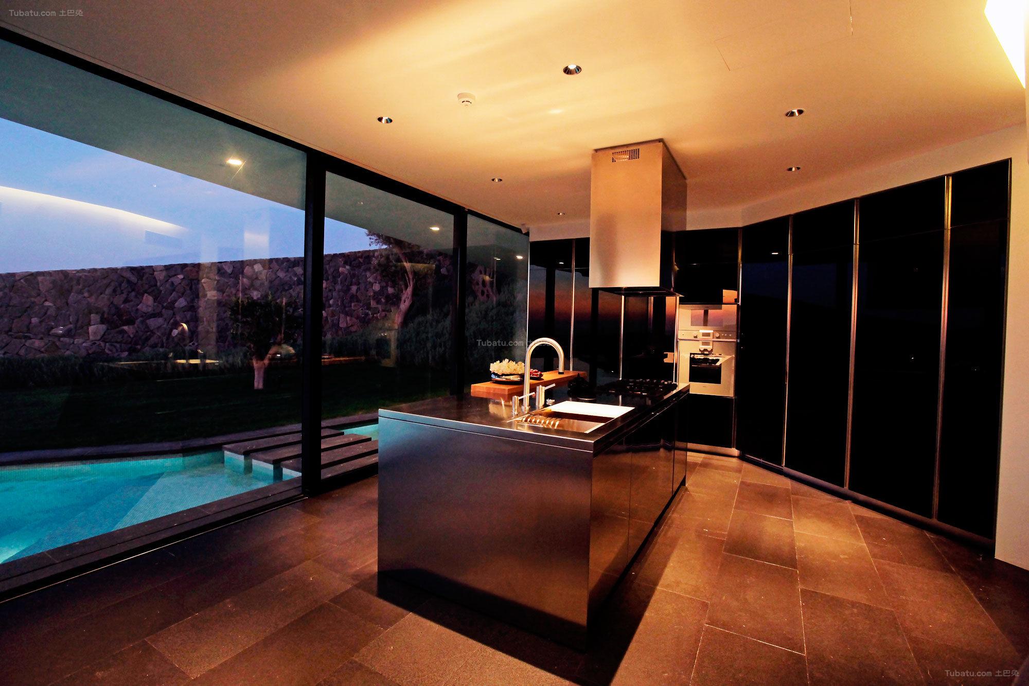 现代风格清简逸景厨房效果图