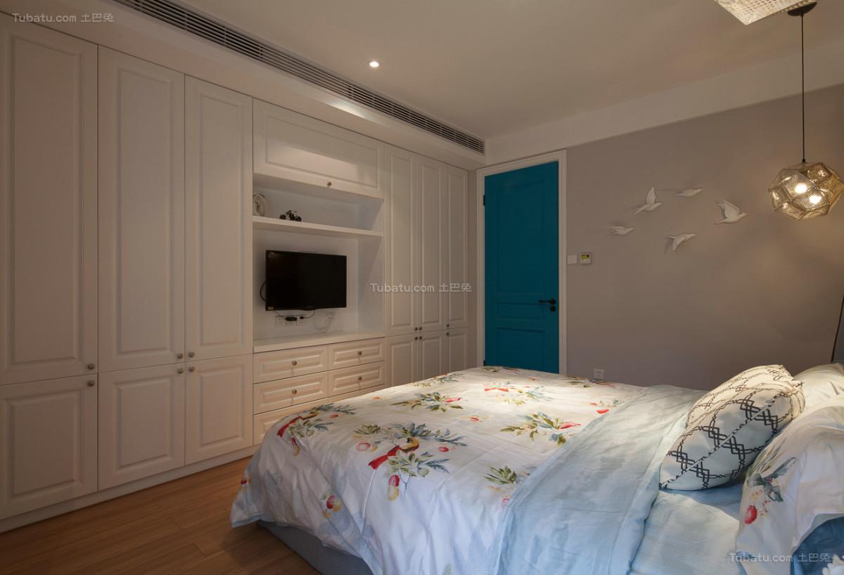 复古美式混搭风小卧室图片
