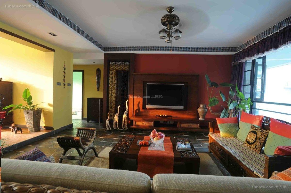 古典中式混搭居家风背景墙图片