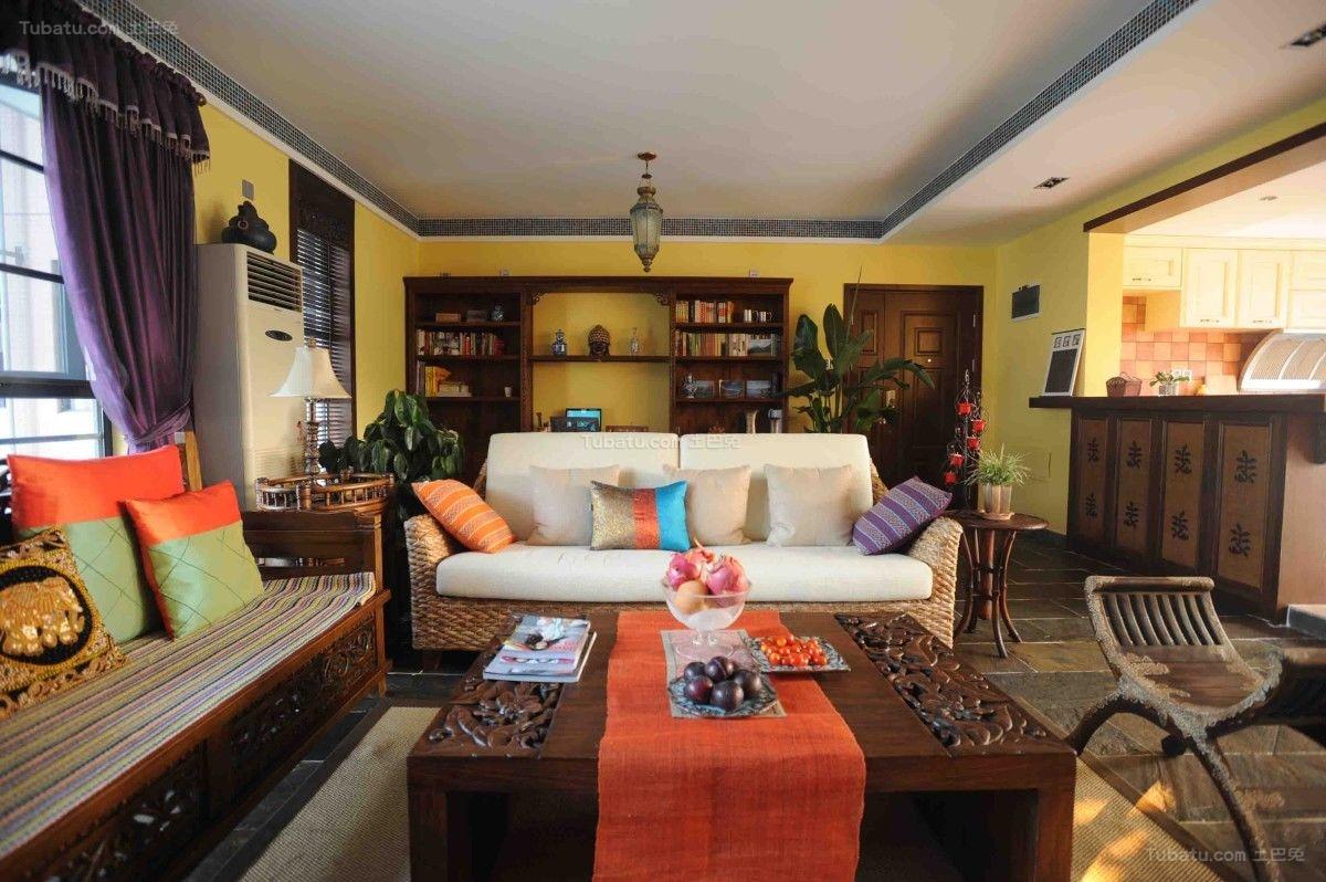 古典中式混搭居家风一居室图片