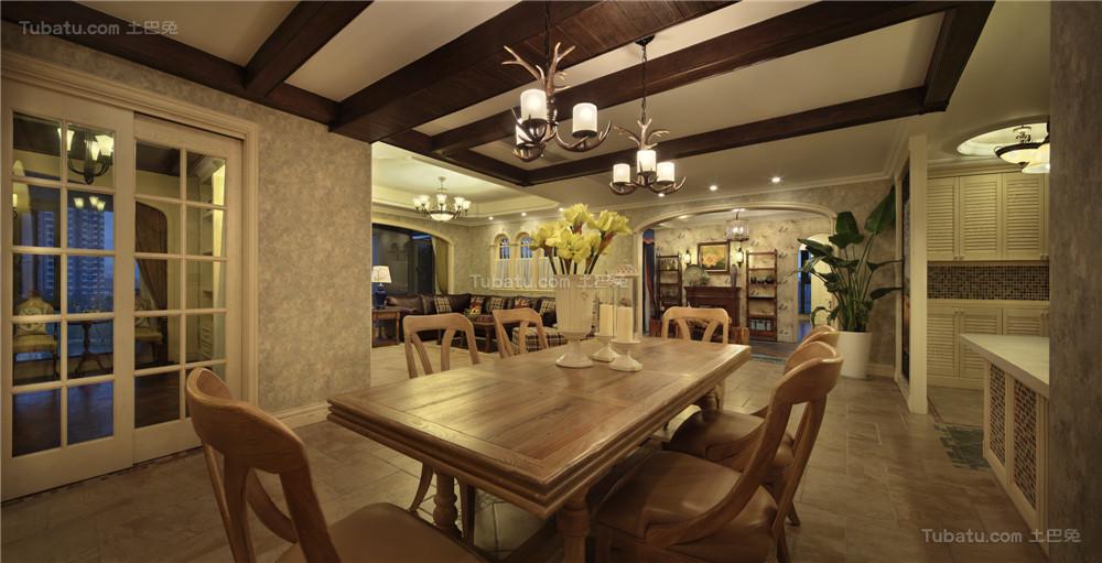 美式精美清雅餐厅欣赏图