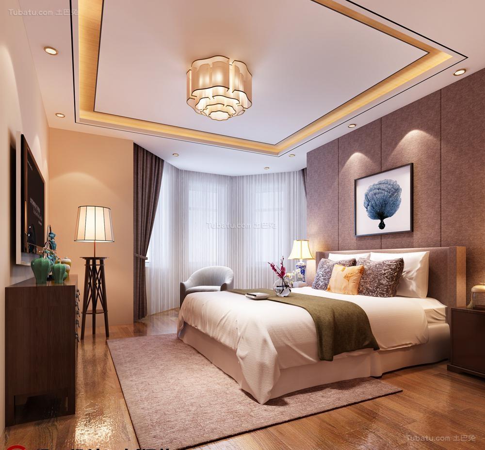中式家居卧室装修图