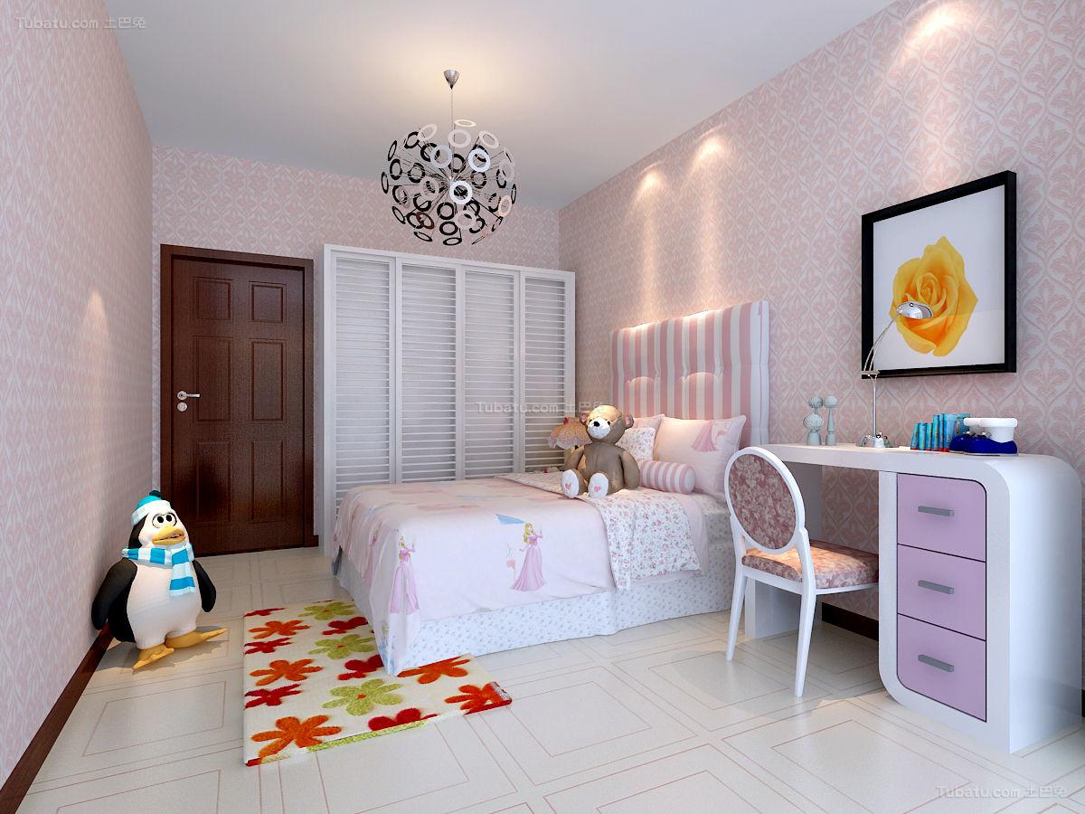 新中式儿童房效果图