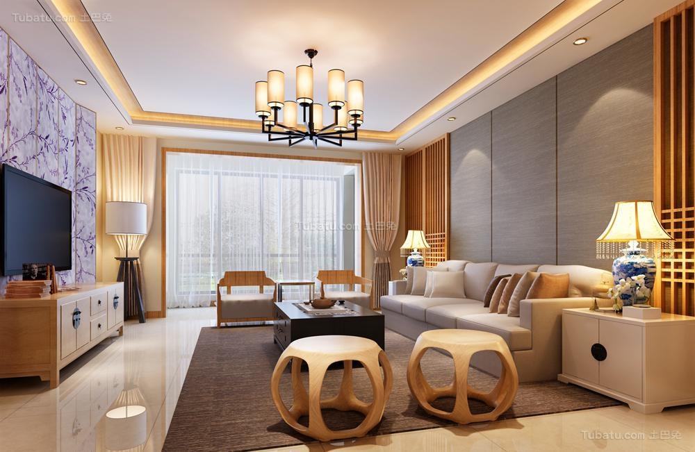 中式家装三居室装修图